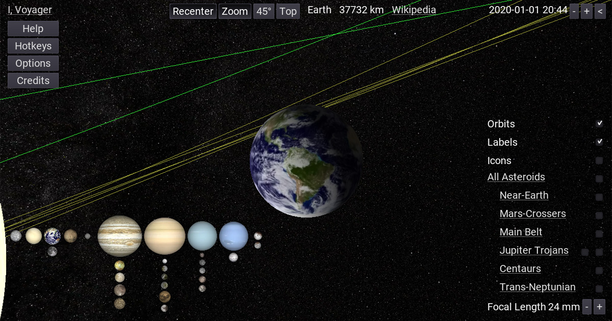 I, Voyager Planetarium GUI (graphic user interface).
